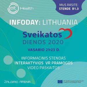 """EIT Health Informacinė diena — """"Sveikatos dienų"""" parodoje"""