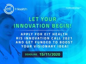 EIT Health RIS Innovation Call: Europos sveikatos priežiūros startuoliai 2021 m. sulauks 1,5 mln. eurų paramos